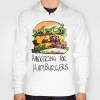 hamburger Hoodies featuring Hamburger by Let's Make Food Babies