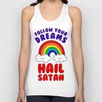 satan Tank Tops featuring Hail Satan by Vile Art