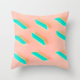 Neon Abstract Pasta Noodles Pattern (Color) Throw Pillow