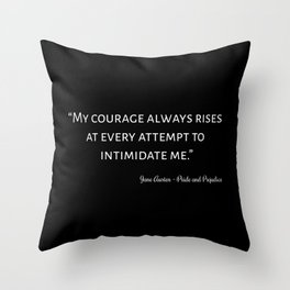 The Pride and Prejudice Quote I Throw Pillow