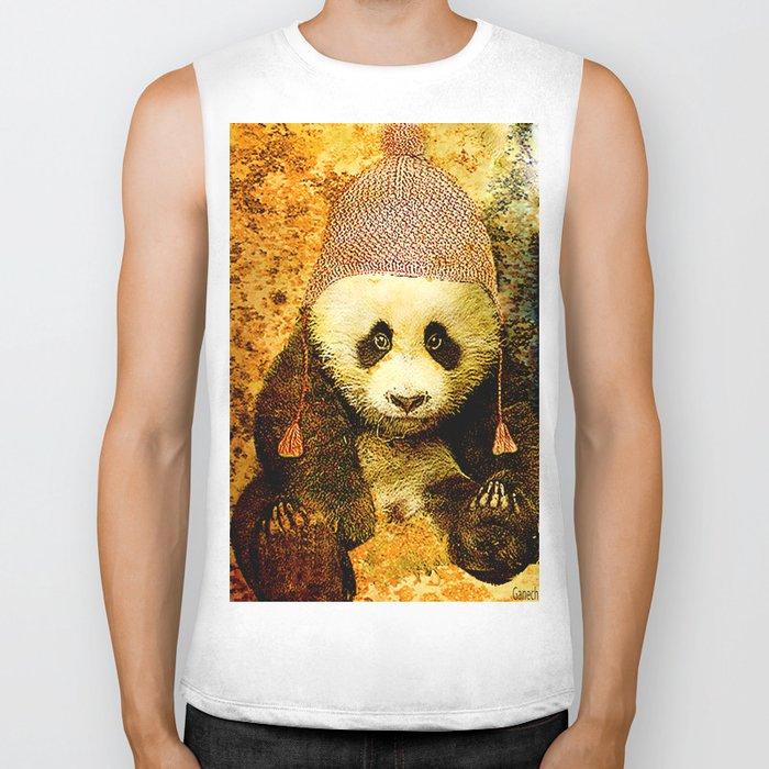 baby Panda Biker Tank