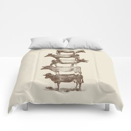 Cow Cow Nuts Comforters