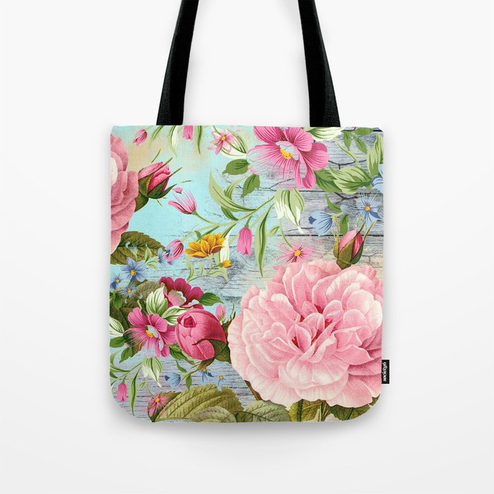 Vintage Flowers #6 Tote Bag
