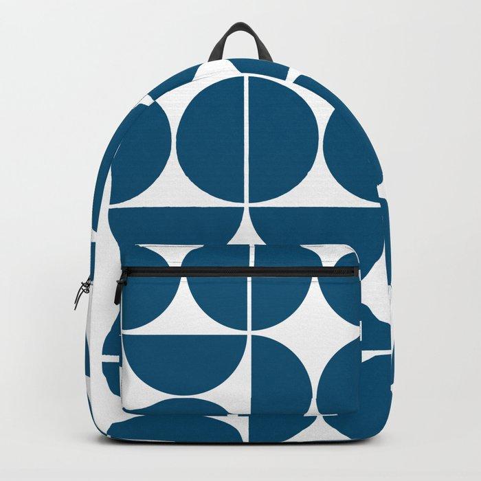 Mid Century Modern Geometric 04 Blue Rucksack