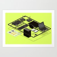 network things Art Print
