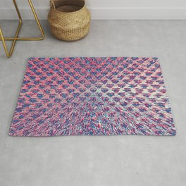 Red White & Blue Explosion Rug