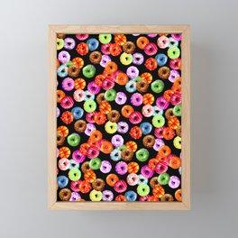 Multicolored Yummy Donuts Framed Mini Art Print