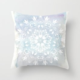 pastel lace design Throw Pillow