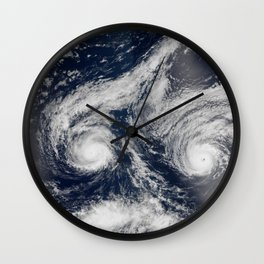 157. Hurricanes Madeline and Lester Wall Clock