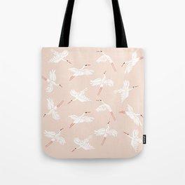 Crane Dance Tote Bag