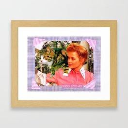 Right 'Til the End handcut collage Framed Art Print