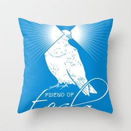 Friend of Tesla Throw Pillow