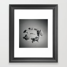Paper Frogs Celebrate Victory over the Tyranny of Fire Framed Art Print