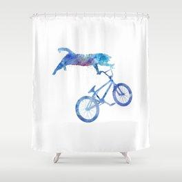 BMX Cat Shower Curtain