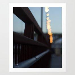 Sunset Boardwalk Art Print