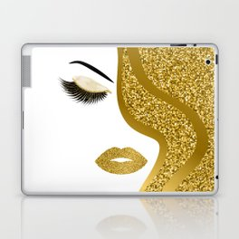 Gold gitte woman Laptop & iPad Skin