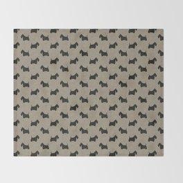 Scottish Terrier Scottie Silhouette Throw Blanket