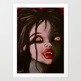 Young Vampire Girl Art Print