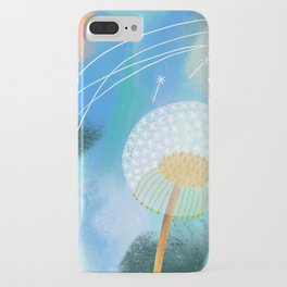 Blue Dandelion Puff iPhone Case