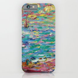 Fair weather at the seaside nautical coastal landscape painting by Emil Nolde iPhone Case