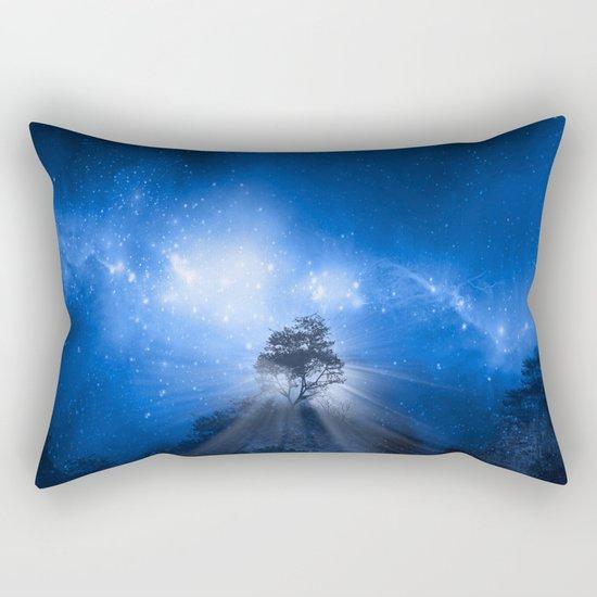 blue night landscape Rectangular Pillow