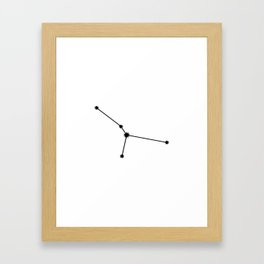 Cancer Astrology Star Sign Minimal Framed Art Print