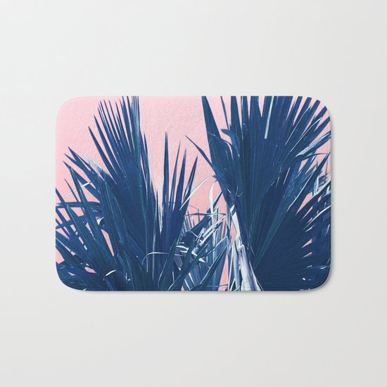 Pink Palm Twist Bath Mat