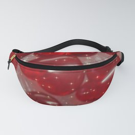 glittering glass hearts red Fanny Pack