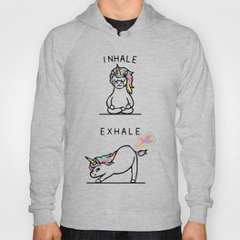 Inhale Exhale Unicorn Hoody
