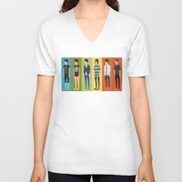 tegan and sara V-neck T-shirts featuring Tegan and Sara: Tegan collection by Cas.