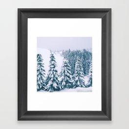 Snowy trees Framed Art Print