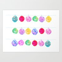 lanterns Art Prints featuring Lanterns by Kara Hayley