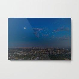 Moon Over LA Metal Print