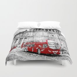 St Paul's Cathedral London Snow Duvet Cover