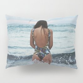 WOMAN - SEA - OCEAN - WATER - HAIR - BATHING - SUIT Pillow Sham