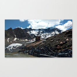 glacier end kaunertal alps tyrol austria europe Canvas Print