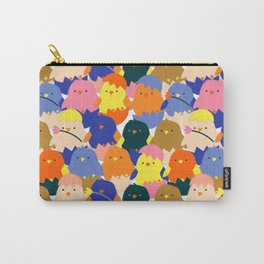 Colored Baby Chickens pattern Carry-All Pouch