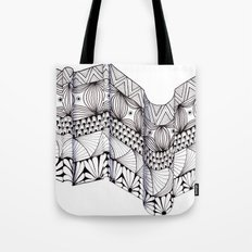 Zentangle Architectural Molding Tote Bag