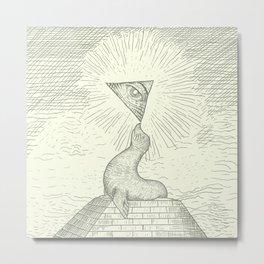 The Masonic Seal Metal Print