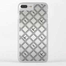 X Wing TIE Fighter Pattern Clear iPhone Case
