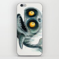 the whale iPhone & iPod Skins featuring Whale by Riccardo Pertici