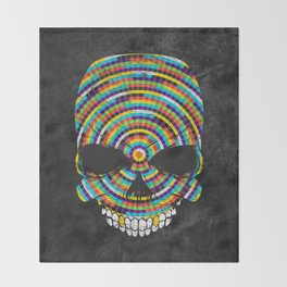 Hypnotic Skull Throw Blanket