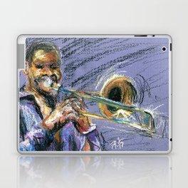 Jazz Trombonist Laptop & iPad Skin