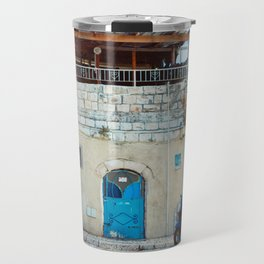 Blue in Safed Travel Mug