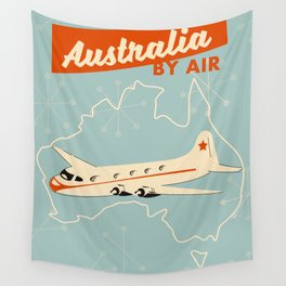 Australia Vintage style travel poster Wall Tapestry