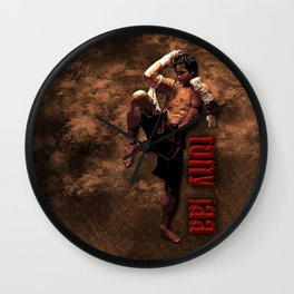 Ong bak Tony Jaa the Muang thai kick boxing Warrior Wall Clock