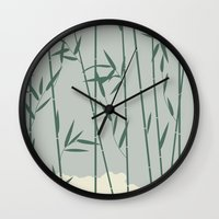 bamboo Wall Clocks featuring Bamboo by Rceeh