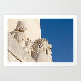 Monument of the Discoveries detail Art Print