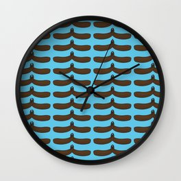 moustache handshake  Wall Clock