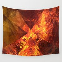 doom Wall Tapestries featuring Into Mount Doom by Lyle Hatch